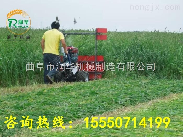 手推电动小型韭菜收割机牧草稻秸打捆割晒机