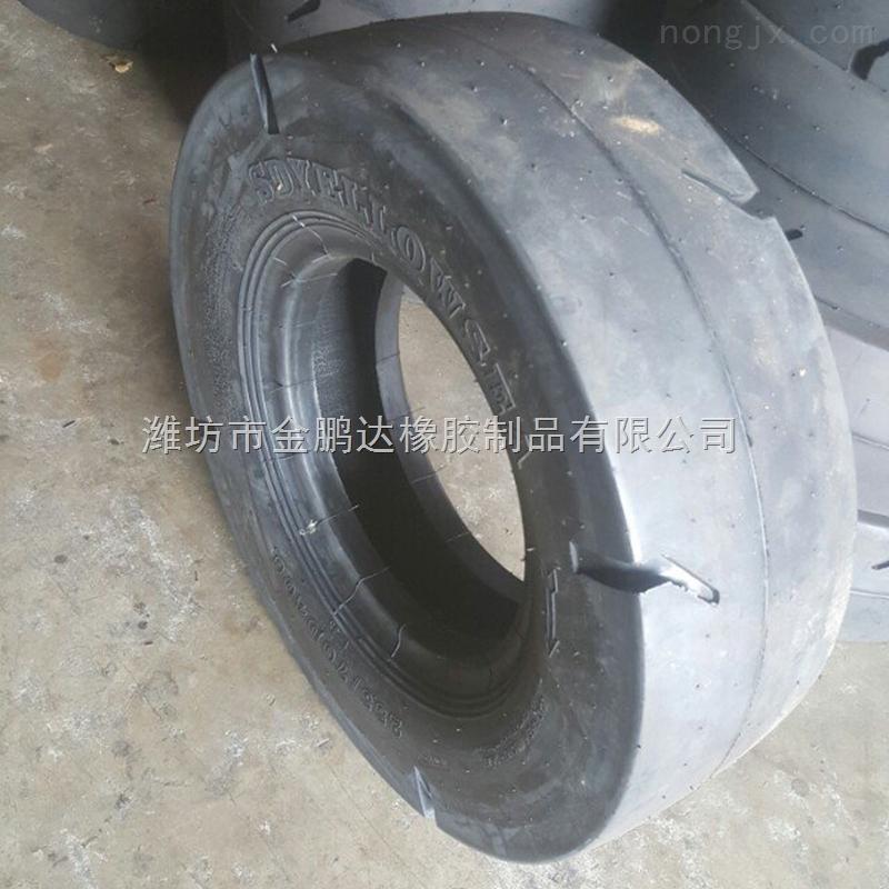 光面花紋鏟運機255/70D406正品壓路機輪胎