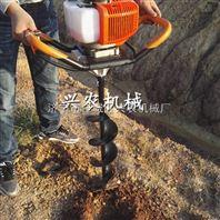 立柱式手提植树挖坑机 汽油起树机价格