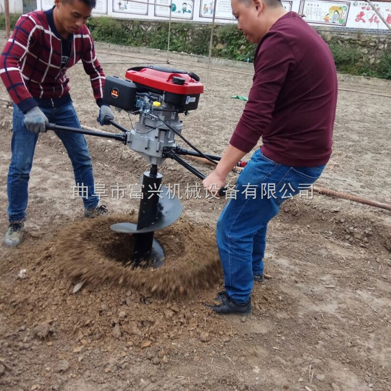立柱埋桩打孔机 大马力四冲程植树挖坑机