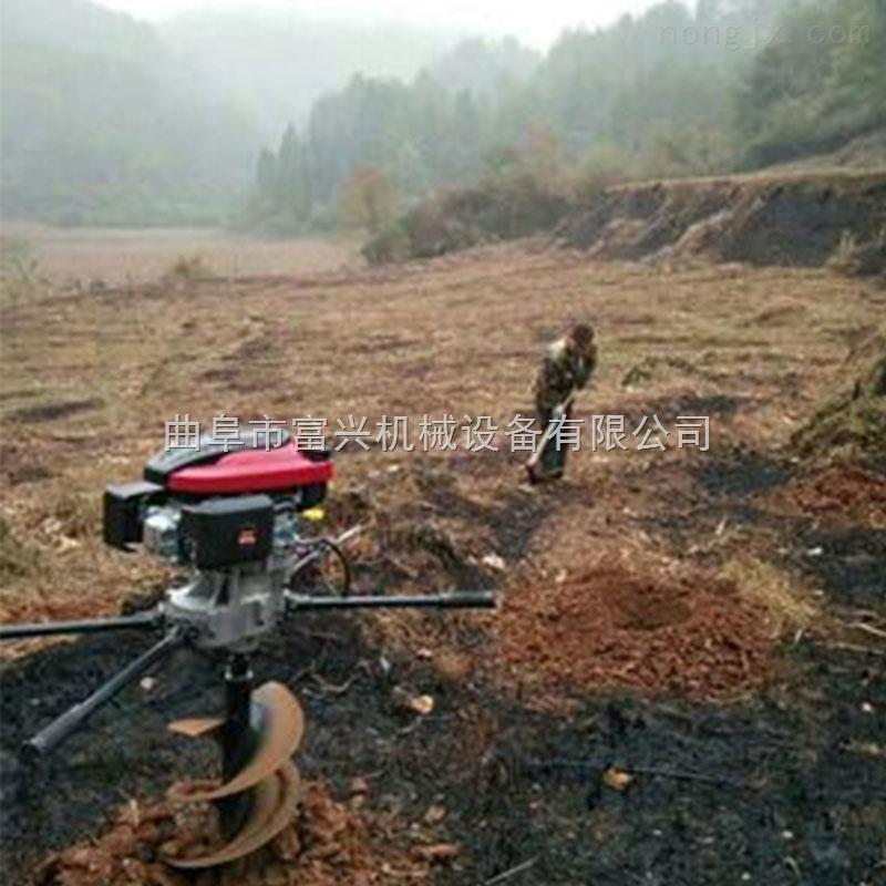 拖拉机悬挂挖坑打眼机 富兴汽油挖坑机厂家