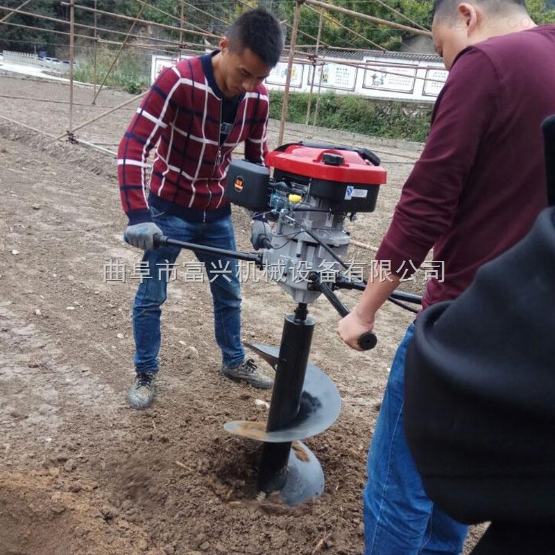 悬挂式植树挖坑机 单人操作栽树打坑机图片