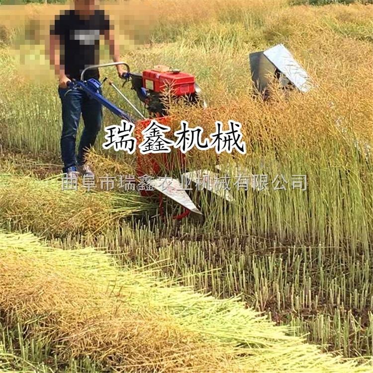 柴油动力麦稻割晒机 甜叶菊苜蓿割草机