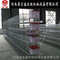宏盛厂家直销四层立式育雏笼小鸡笼设备