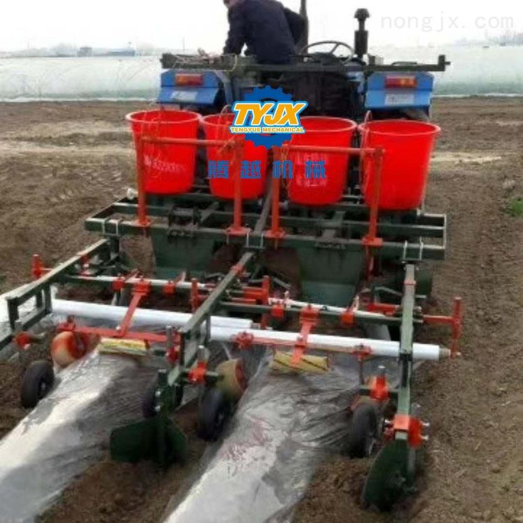 多功能播种施肥覆膜机 玉米覆膜播种机