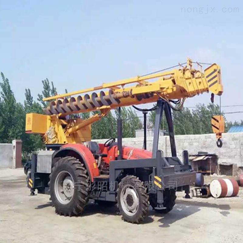 装载式公路护栏地基打桩机 租赁