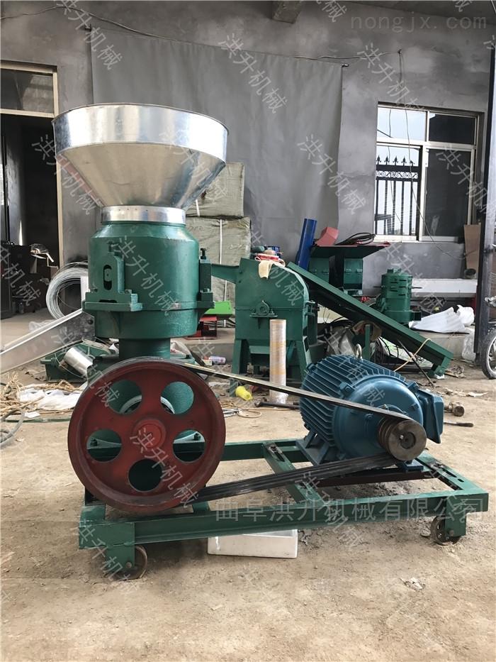 柴油机带饲料颗粒机 牧草玉米粉混合制粒机