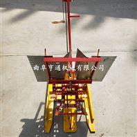 结构简单两行水稻插秧机工作视频