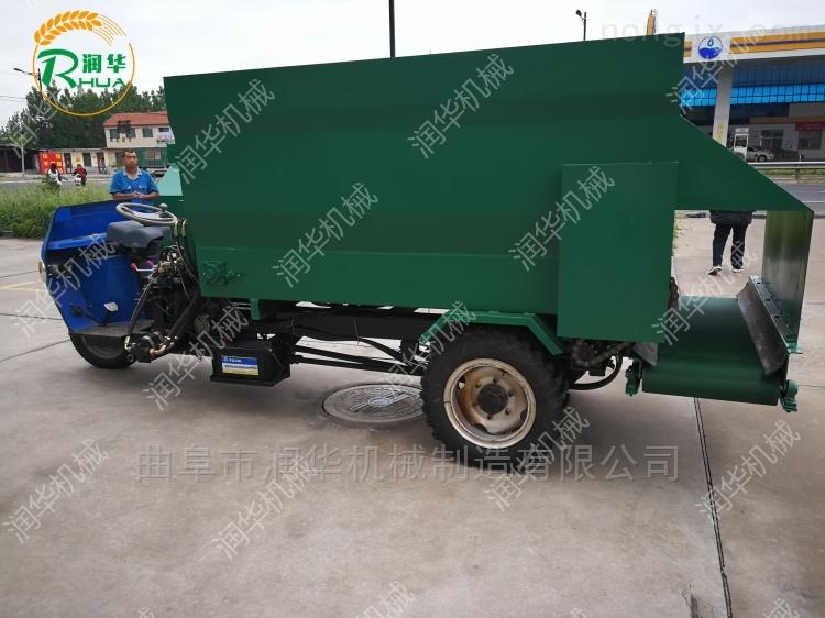 节省养殖空间的撒料车 喂养方便投料机价格