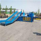 xnjx-10优质编织袋废纸打包机10吨树叶压扁机价格