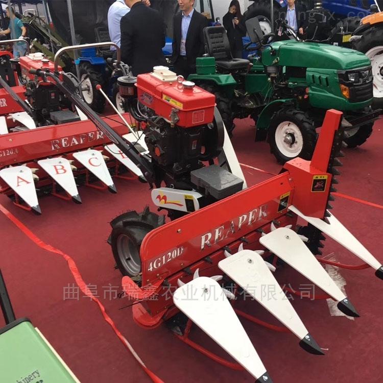 手推式柴油动力割晒机 背负式玉米收割机