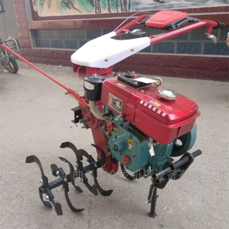 小型地块播种施肥机 四驱手扶旋耕机