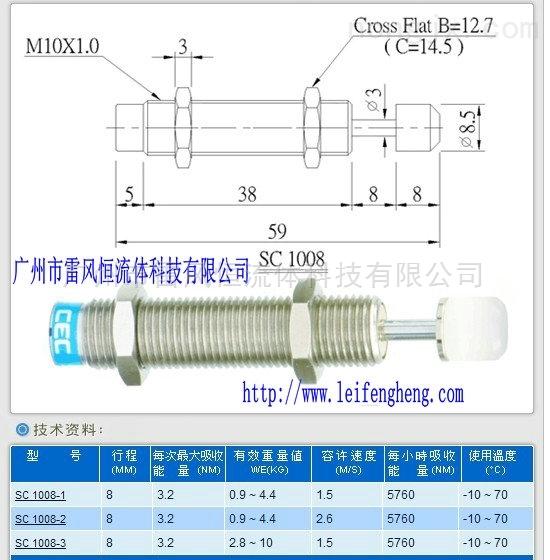 气动元件SC1008-1油压缓冲器