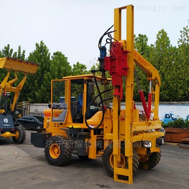 装载护栏打桩机用途质量和参数 山东厂家