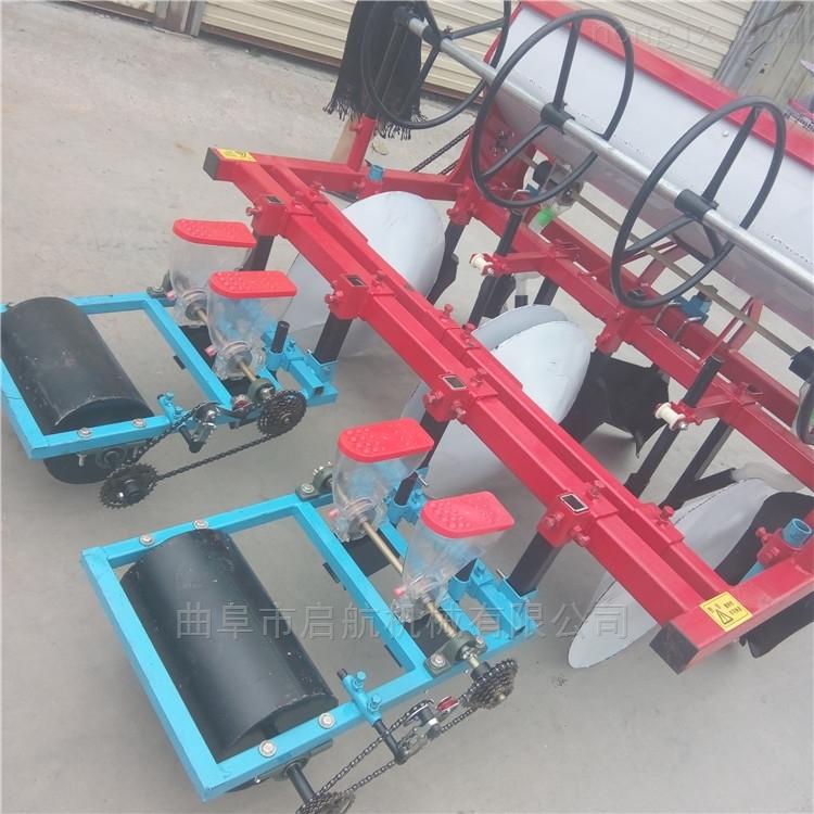 汽油小型玉米播种机拖拉机带动精播