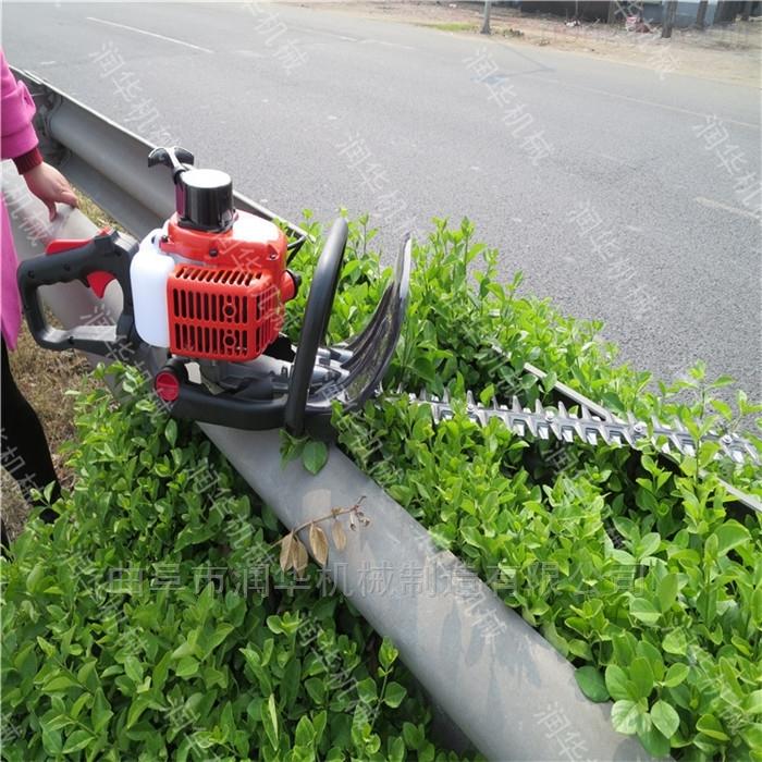 汽油单面冬青绿篱机 天津绿化隔离带修剪机