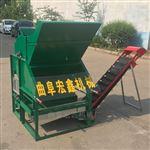 hx-200拖拉机后置花生摘果机 小型打果摔果机