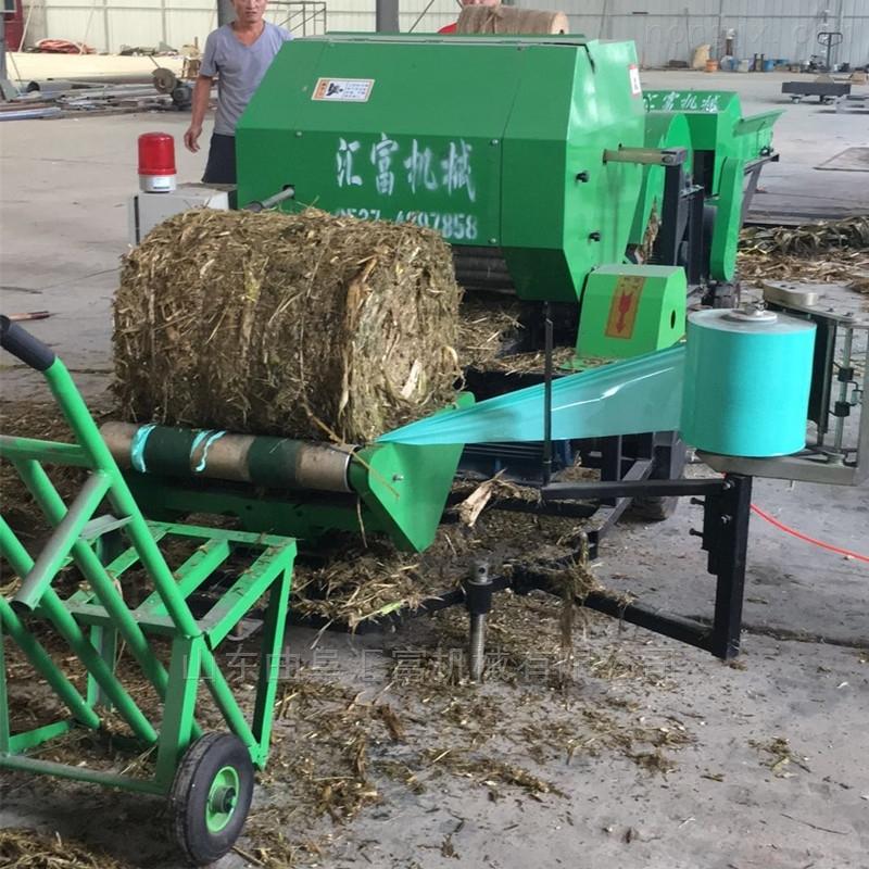 玉米秸秆青储打捆机 青贮打捆包膜机价格
