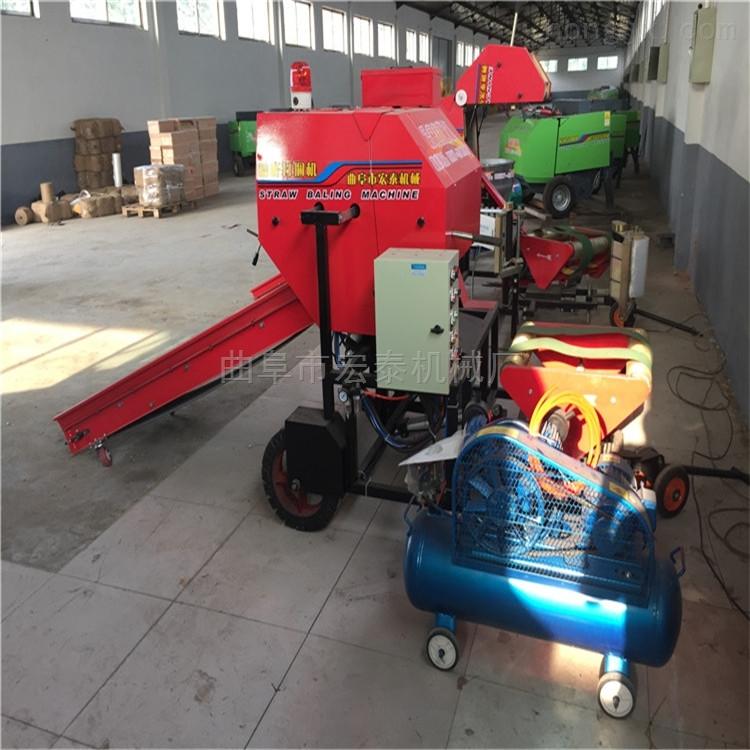 柴油机带动青贮包膜打捆机