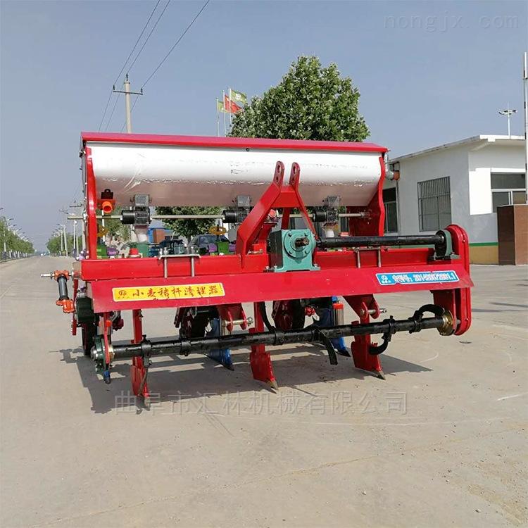 四轮拖拉机带谷子施肥播种机