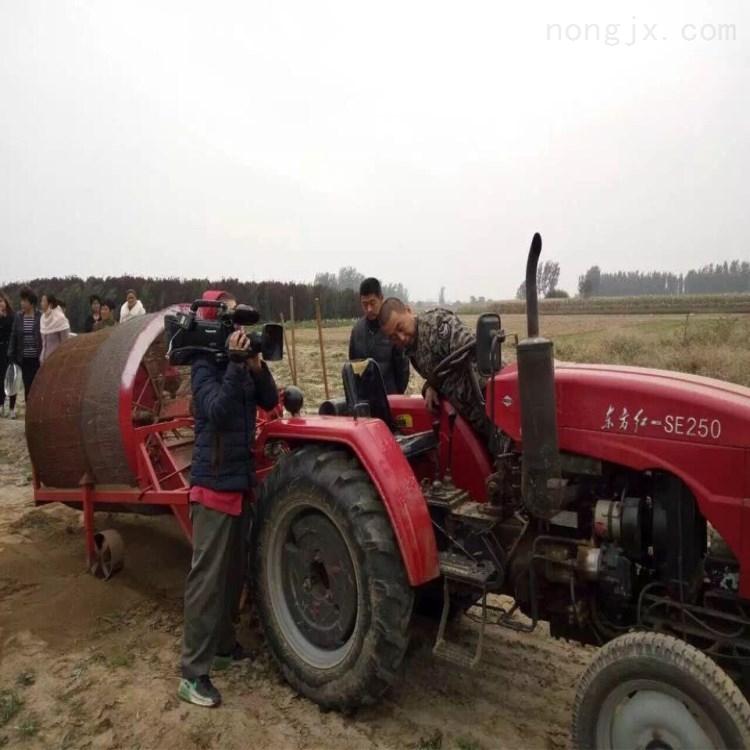 新款中药材挖掘机 拖拉机起垄机生产厂家
