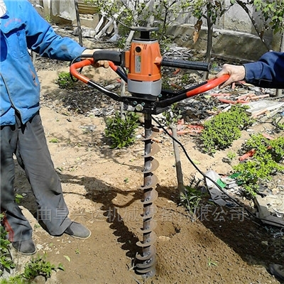 石河子多用途自走式挖坑機 黑土地汽油挖坑