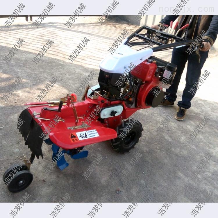 简易操作田园管理机 使用小型开沟培土机