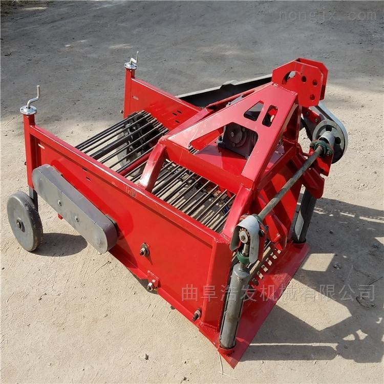 手扶拖拉机土豆收获机 平地起垄土豆挖果机