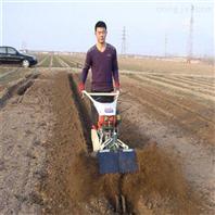 手扶开�K沟起垄机 大葱埋土专用柴油培土机