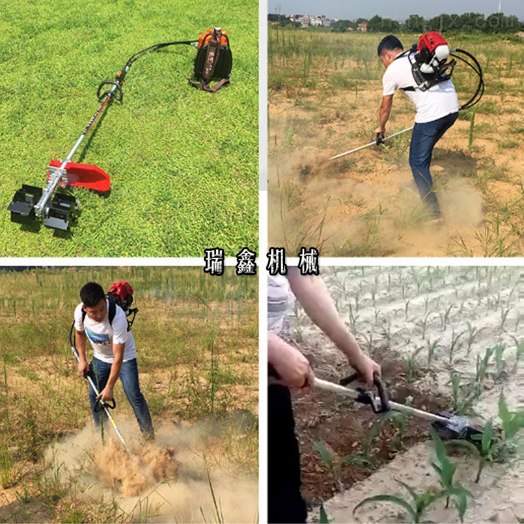 二冲程背负式果园锄地机视频 便携式割草机