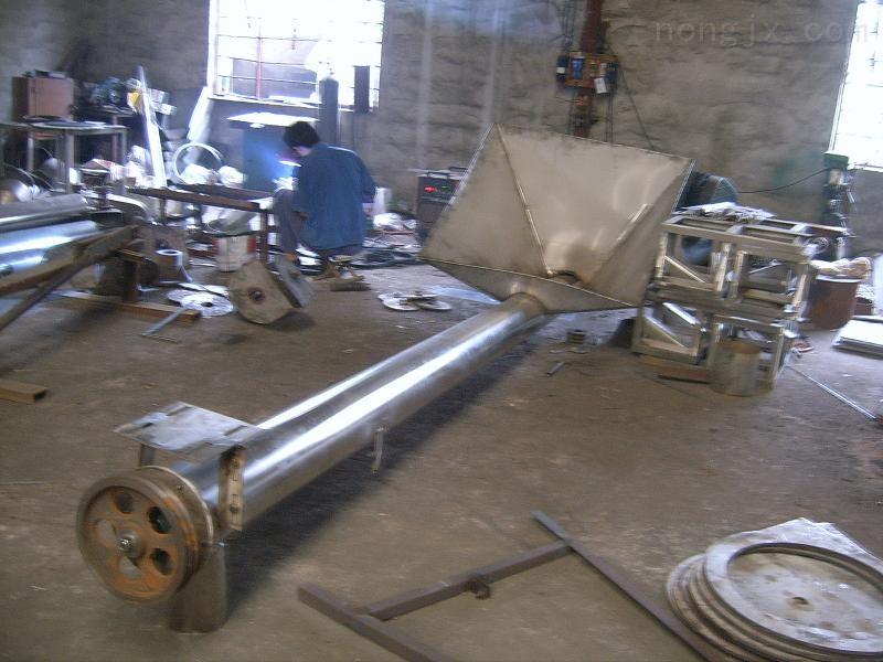 Φ219-圓管狀螺旋式不銹鋼材質面粉提升機全密封無粉塵