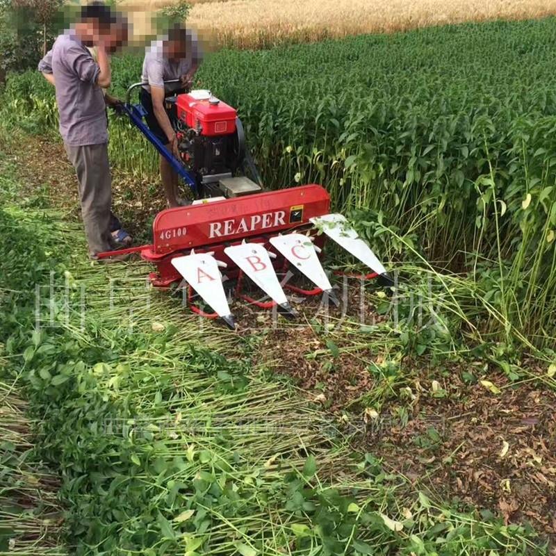 燕麥小麥收割機手扶式拖拉機帶割臺