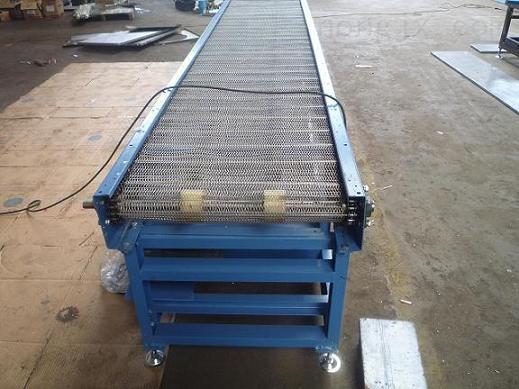 绵阳提升爬坡输送 批量加工金属网带输送机xy1网带输送机
