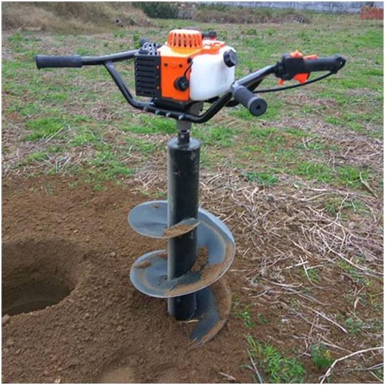 中山超大馬力汽油地鑽機 汽油機挖坑機操作