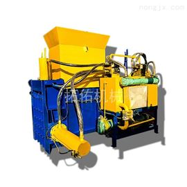 ATY-47甘蔗叶碎料液压打包压块机套袋压缩成型干草