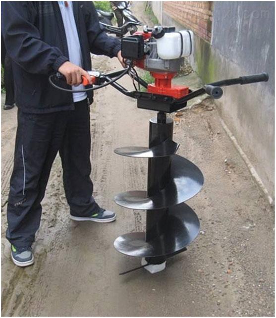 挖坑机-四冲程汽油挖坑机现货汽油立桩机 操作舒适