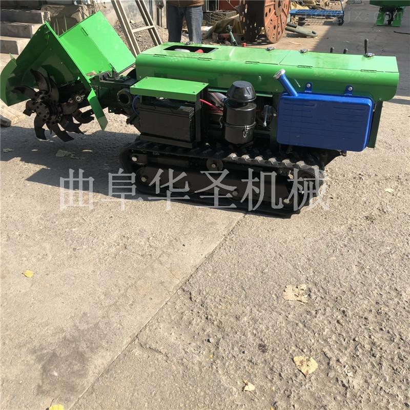 小型自走式果园开沟施肥机 柴油电启动开沟机