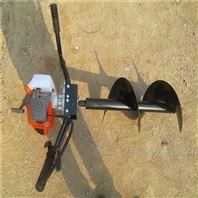 後置式四輪植樹挖坑機 汽油高效鑽眼打孔機