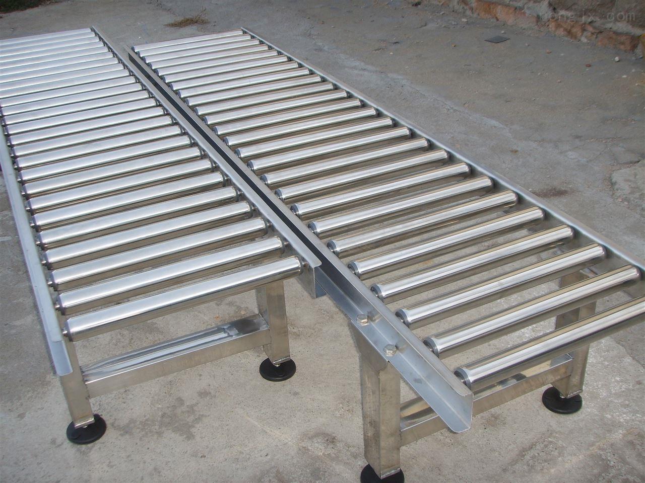 马鞍山无动力辊筒输送机 碳钢倾斜皮带机