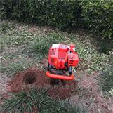 小型手提挖坑植树机 多功能汽油打眼机