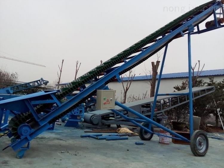 尼龙带输送机 加厚防滑式大倾角挡边输送机xy1波状挡边输送机