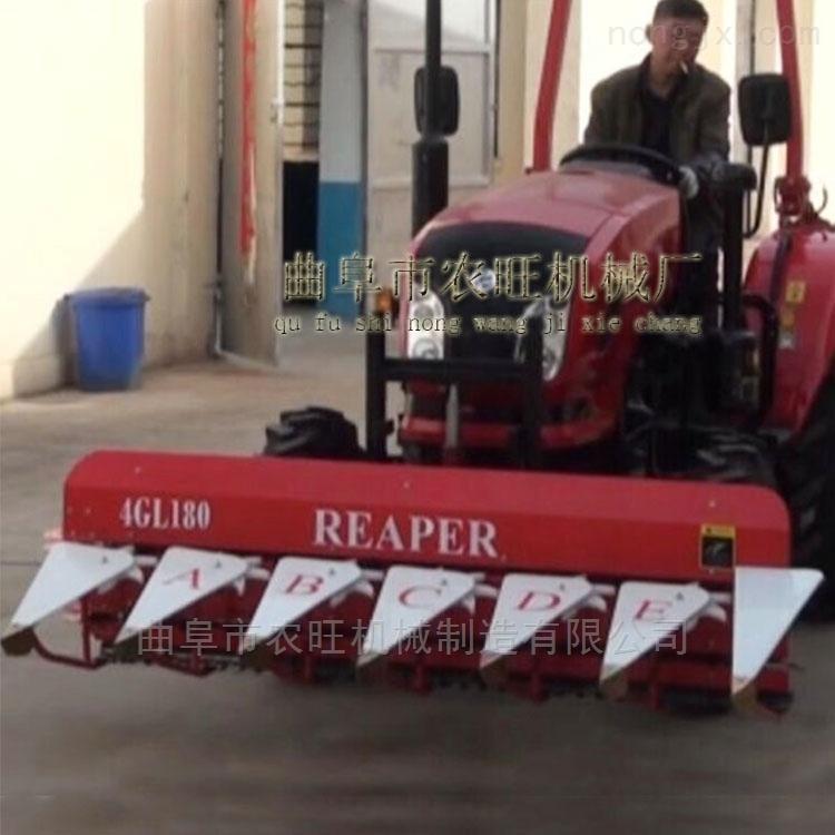 多功能小型割晒机 艾草收割机 水稻收割割台