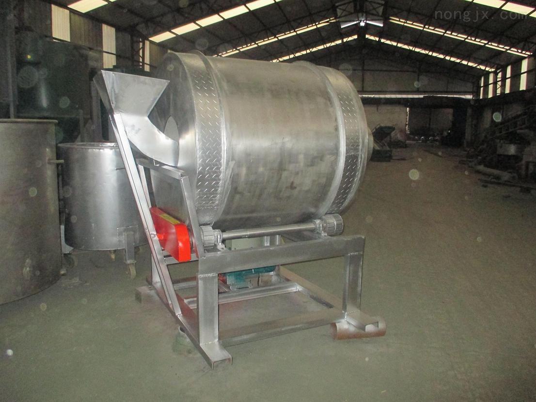 9hg-500型-不锈钢大型滚筒式肥料种子包衣机