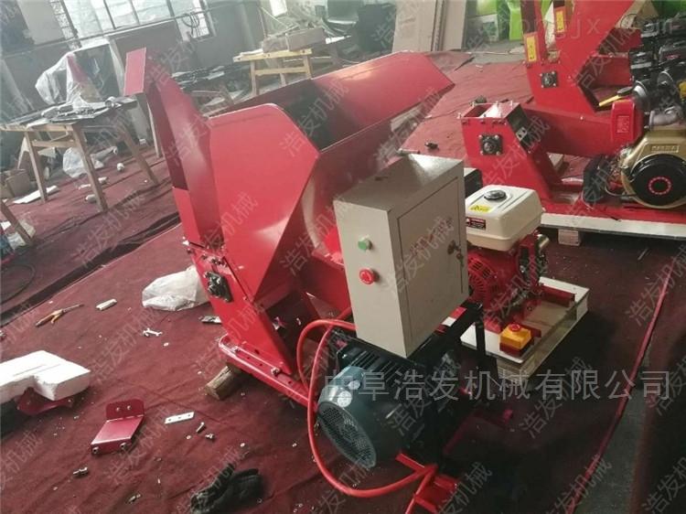 茶园大马力汽油枝叶粉碎机 移动木材破碎机