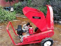 户外使用方便汽油粉碎机 移动木材碎枝机