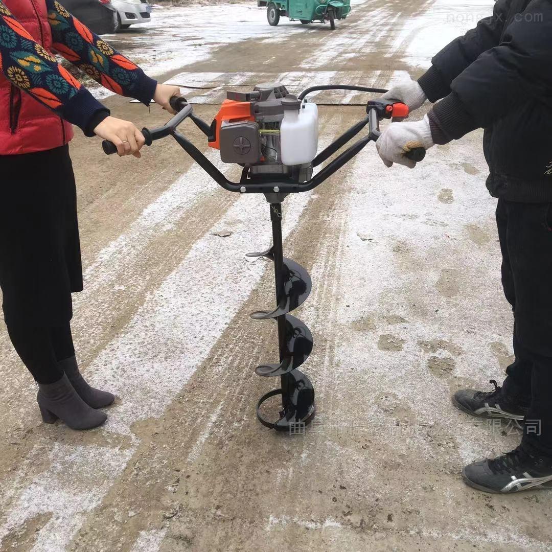 蔬菜大棚埋樁挖坑機 雙人手提式鉆眼機價格