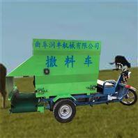 养牛场专用电动喂料车 养殖场牛草投料机