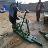 四冲程额地钻挖坑机 小型地面钻孔机