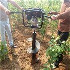 载苗移栽挖坑机 汽油动力钻坑机