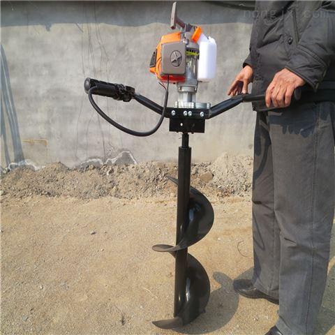 手提式植树挖坑机 单人轻便汽油种植机